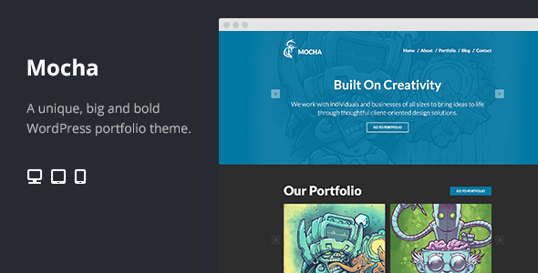 ThemeForest Mocha Flat Bold WordPress Portfolio Theme 6168741