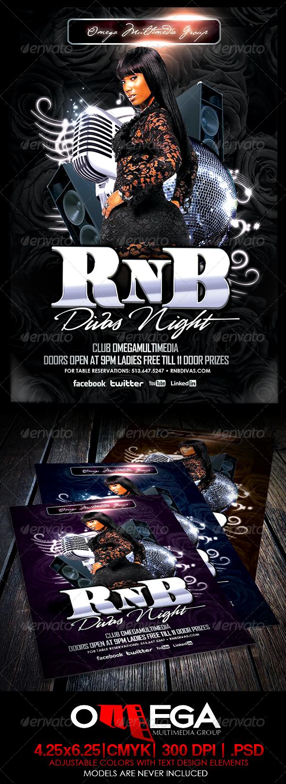 GraphicRiver RnB Divas Night 6211141