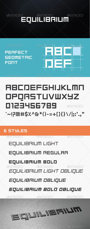 GraphicRiver Equilibrium Font 6211159