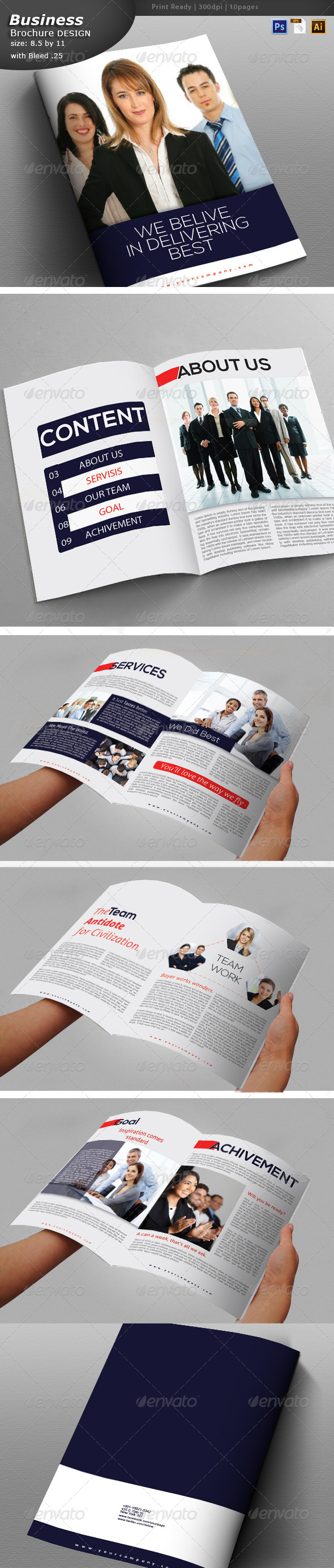 GraphicRiver Business Brochure Design 6210925