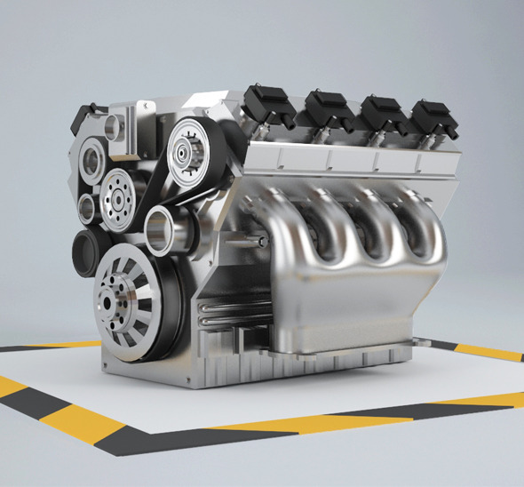 3DOcean Car Engine 8 cylinders 6211212