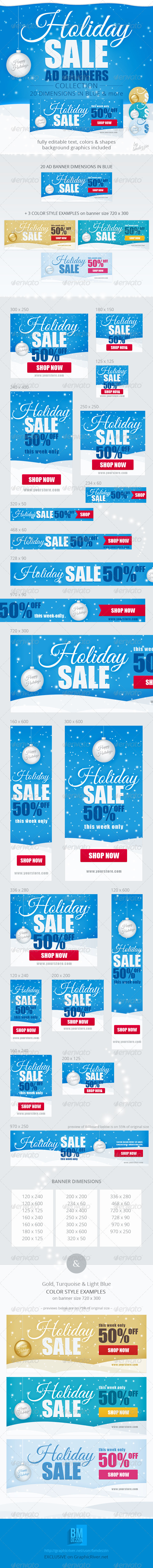GraphicRiver Holiday Sale Web Ad Banners 6211368