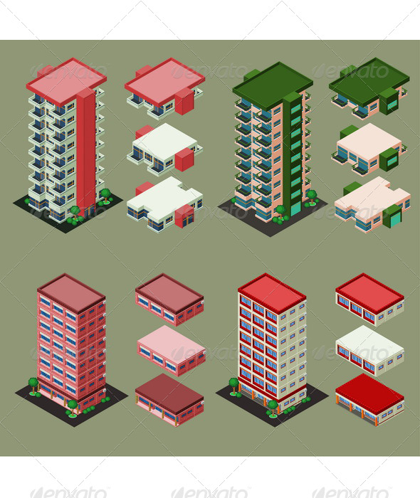 GraphicRiver Isometric Building 6211373