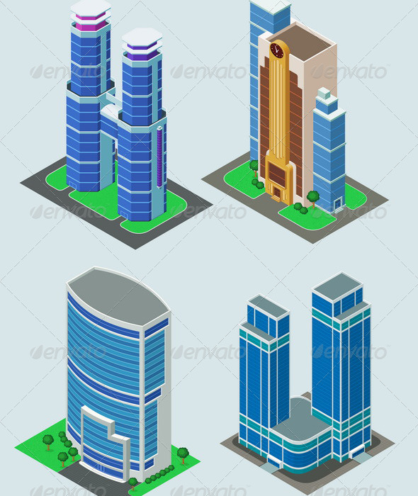 GraphicRiver Isometric Building 6211456