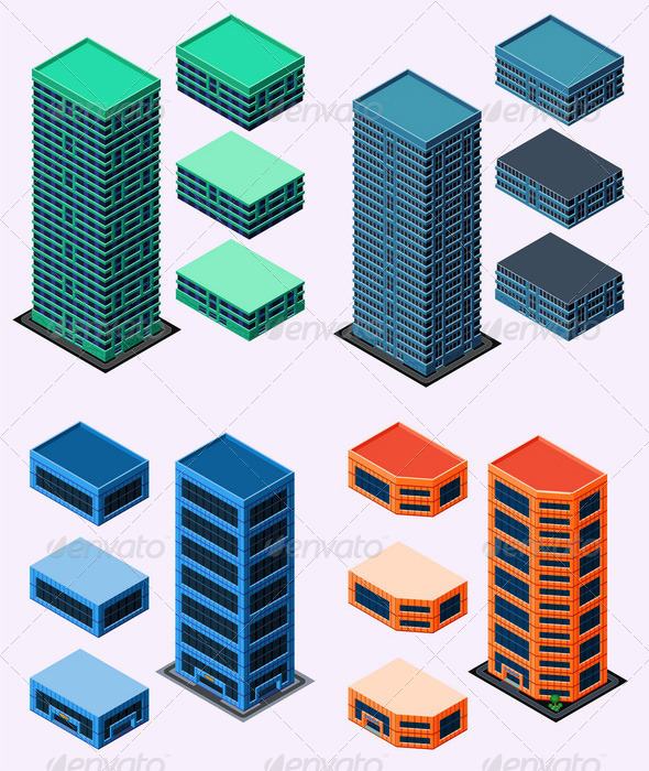 GraphicRiver Isometric Building 6211495