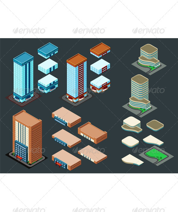 GraphicRiver Isometric Building 6211496
