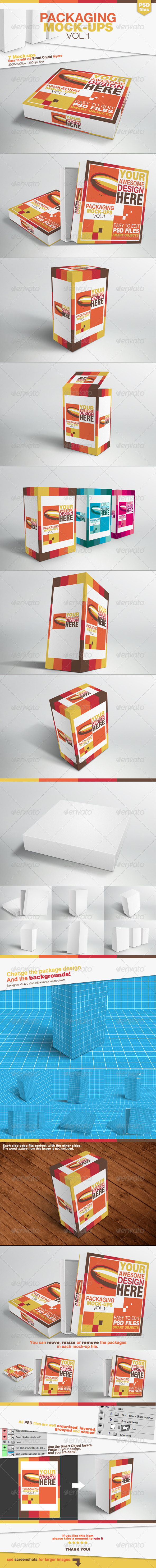 Packaging Mock-ups Vol.1 - Product Mock-Ups Graphics