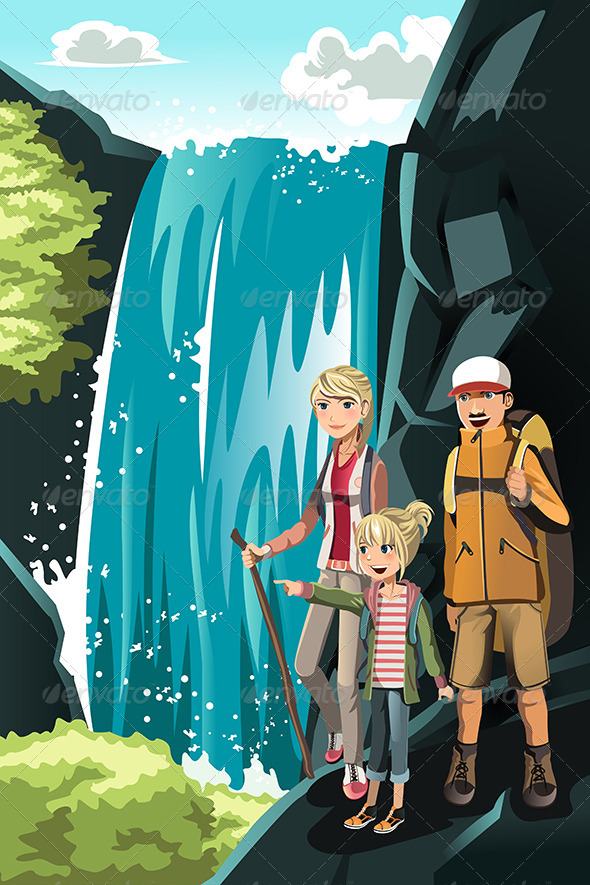GraphicRiver Hiking Family 6212129