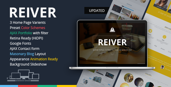 REIVER - Responsive OnePage HTML5 Template