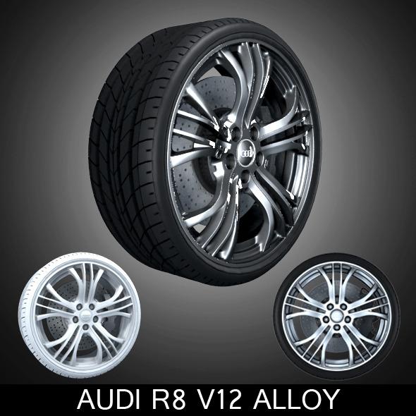 Audi R8 v12 Alloy - 3DOcean Item for Sale