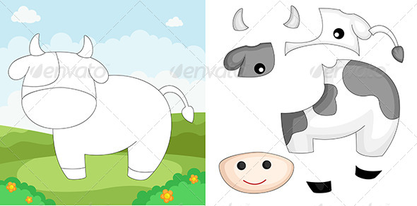 GraphicRiver Cow Puzzle 6212805