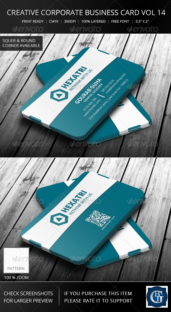 Creative Corporate Business Card Vol 14 - Corporate Business Cards