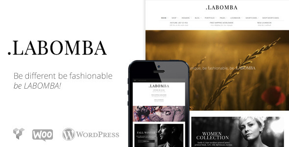 ThemeForest Labomba Responsive Multipurpose Wordpress Theme 6106367