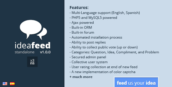 CodeCanyon IdeaFeed Interactive User Feedback System 6189122
