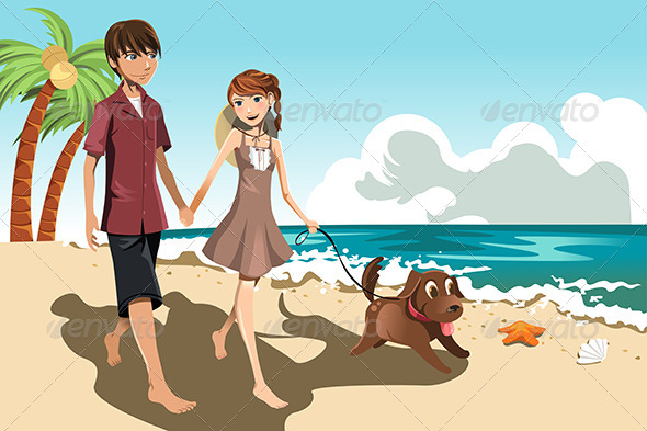 GraphicRiver Young Couple on the Beach 6212882