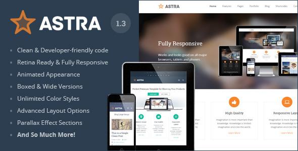 Astra - Responsive Multi-Purpose HTML Template