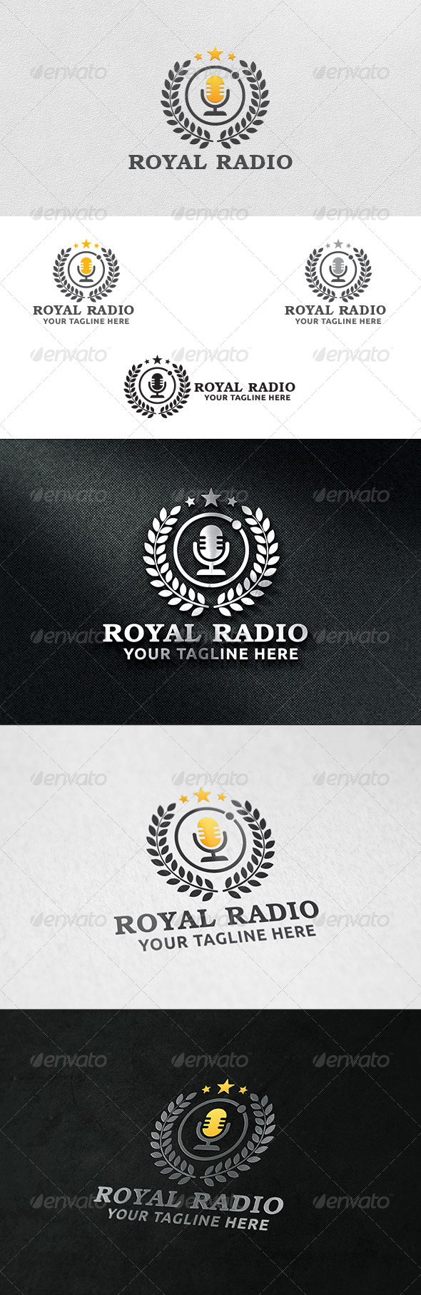 GraphicRiver Royal Radio Logo Template 6213069