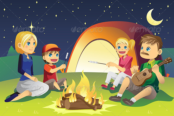 GraphicRiver Camping Family 6213197