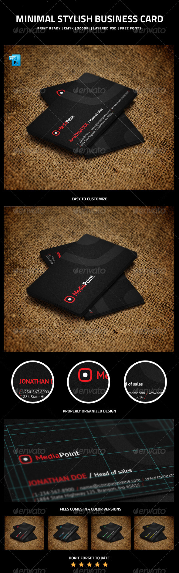 GraphicRiver Minimal Stylish Business Card 6213328