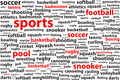 Sports Categories Word Cloud - PhotoDune Item for Sale