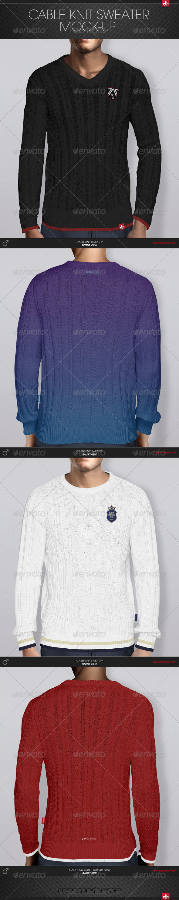 GraphicRiver Cable Knit Sweater Mock-up 6213371