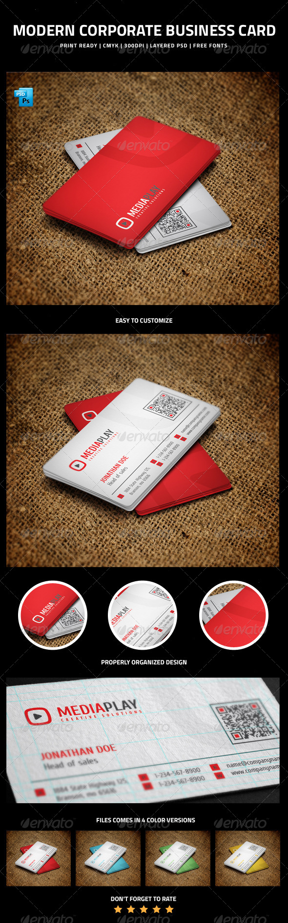 GraphicRiver Modern Corporate Business Card 6213450