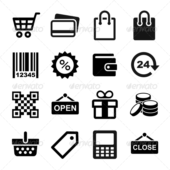 GraphicRiver Shopping Icons Set 6213512