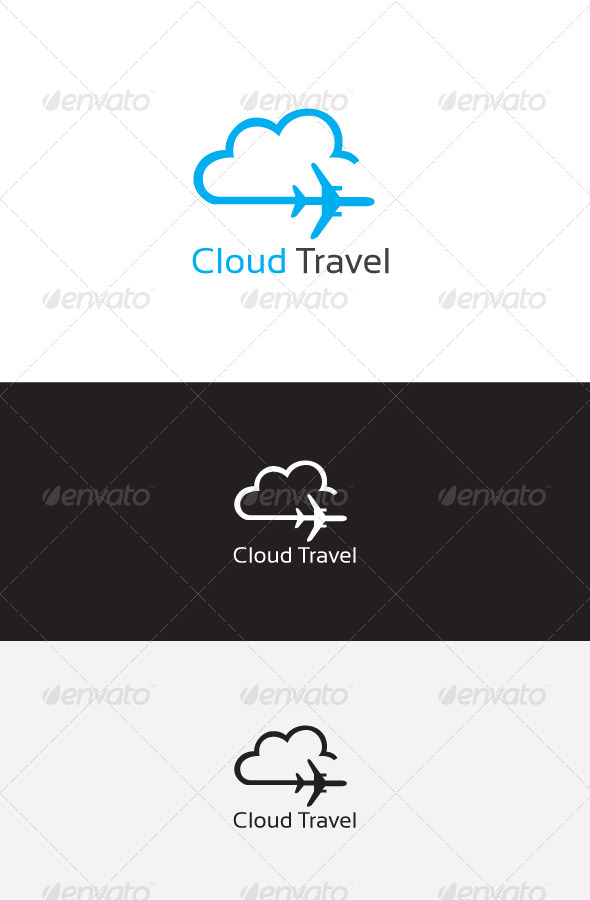 GraphicRiver Cloud Travel Logo Template 6213816