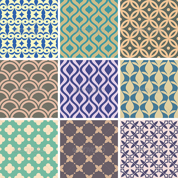 GraphicRiver Abstract Vector Patterns 6213822