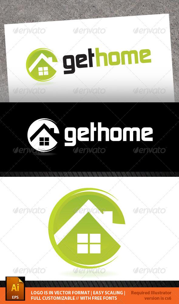 GraphicRiver Get Home Logo Template 6214096