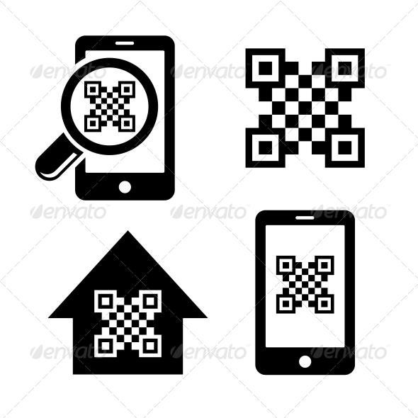 GraphicRiver QR Code Icons Set 6214102