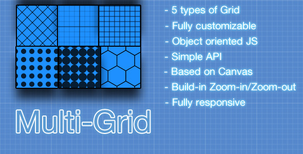 Multi-Grid Is a tool that uses the HTML5 Canvas power to create 5 different types of grid line patterns.Features include: 5 different types of grid patterns (bl