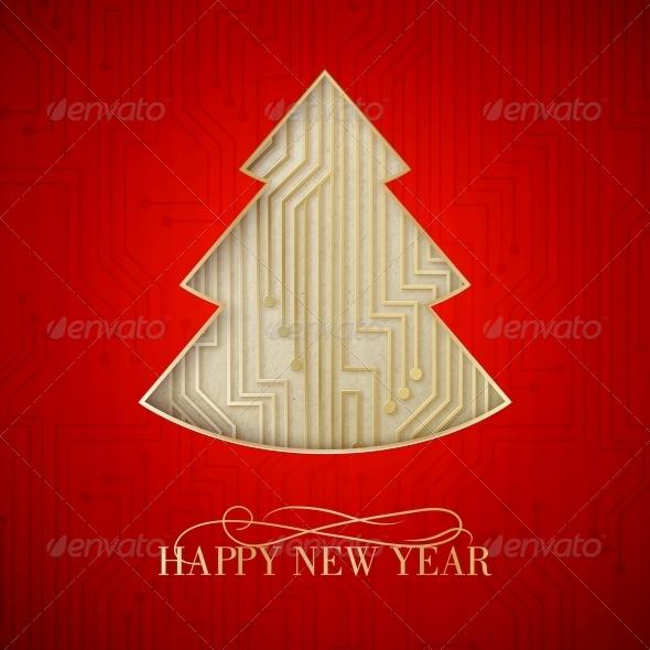 GraphicRiver Microprocessor Christmas Tree 6214185