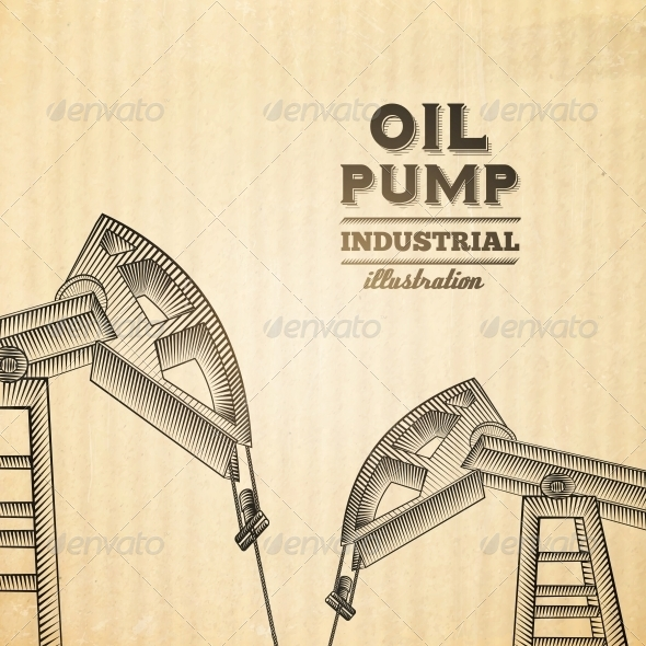 GraphicRiver Oil Pump Jack 6214197