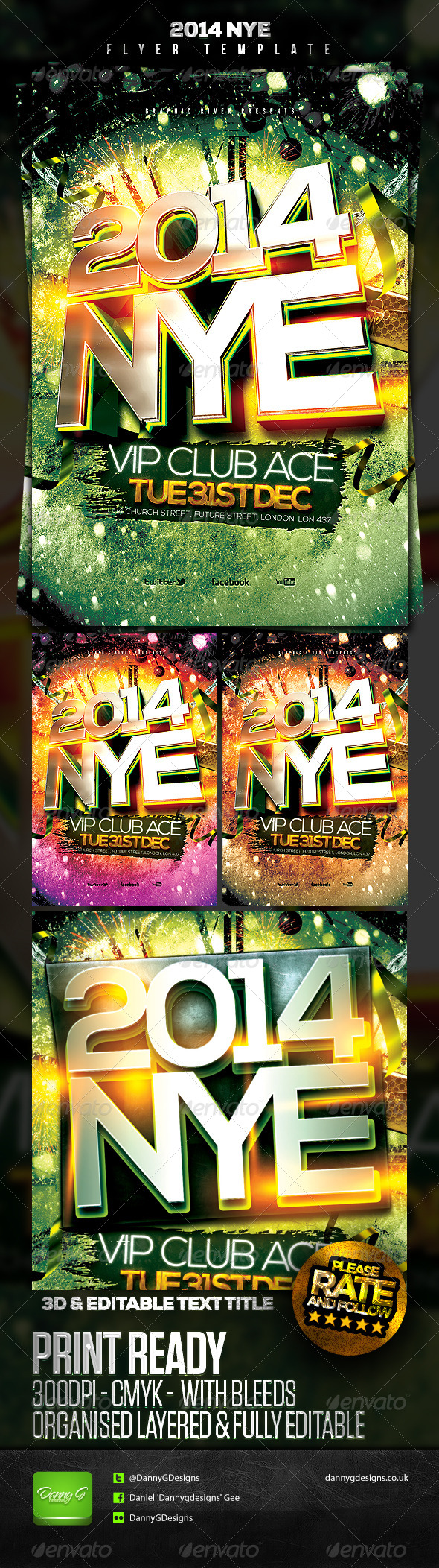 GraphicRiver 2014 NYE Flyer Template 2 6214290