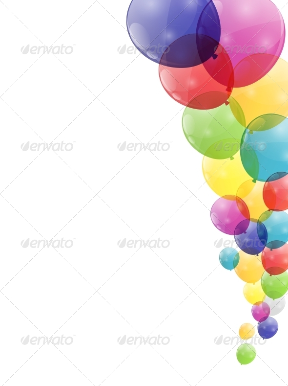 GraphicRiver Color Glossy Balloons Background 6214496