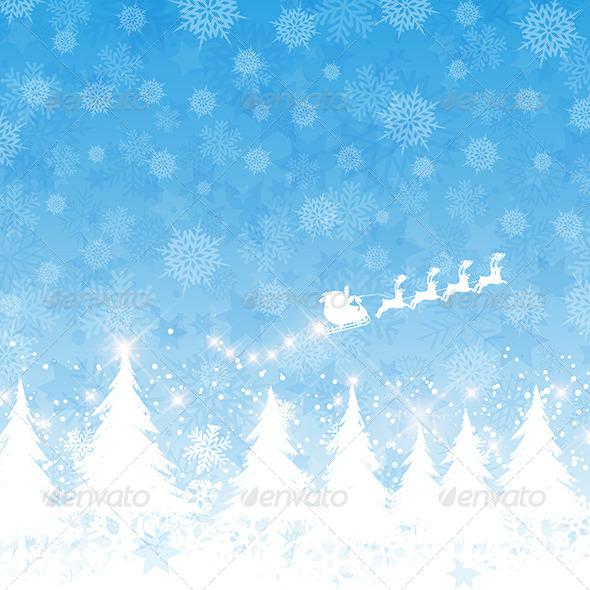 GraphicRiver Christmas Santa Background 6215134