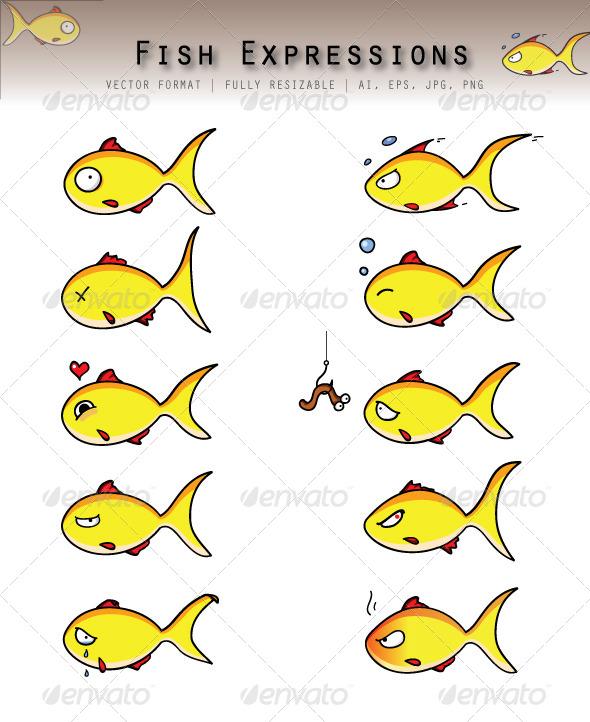 GraphicRiver Fish Emoticons 6215477