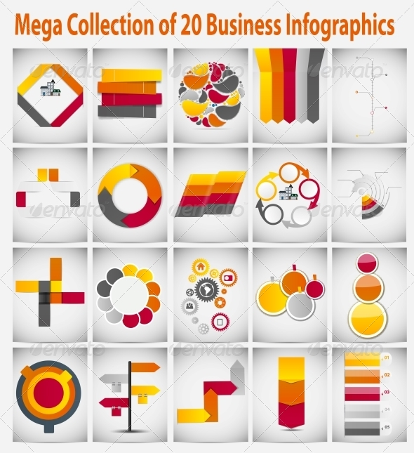 Mega Collection Infographic Template Business Icon