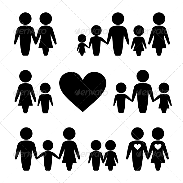 GraphicRiver People Family Icons Set 6215649