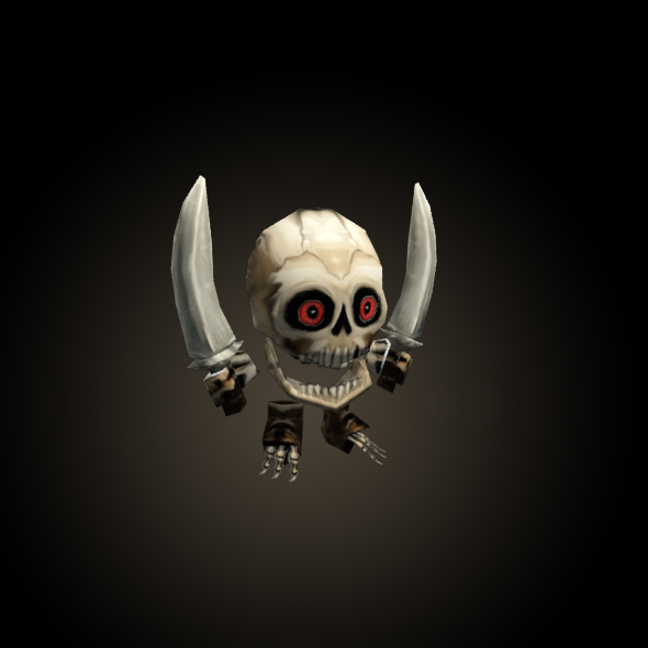 mini Skeleton Low Poly Animated