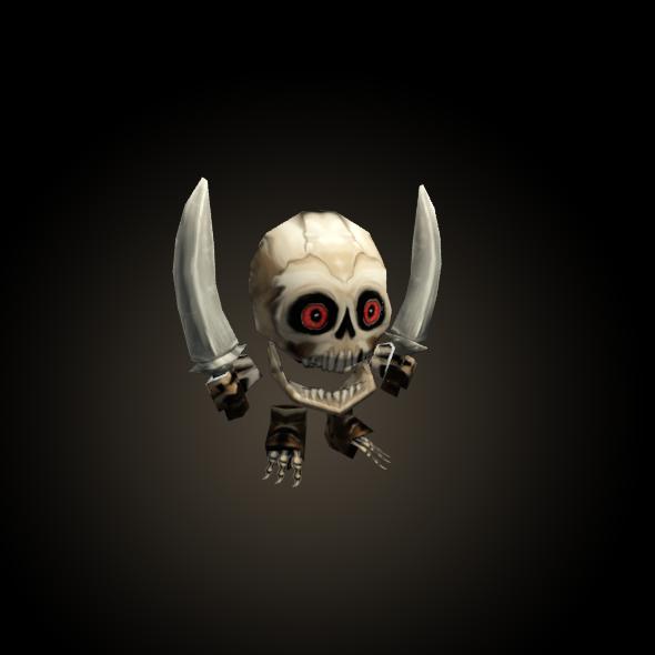 3DOcean mini Skeleton Low Poly Animated 6215734