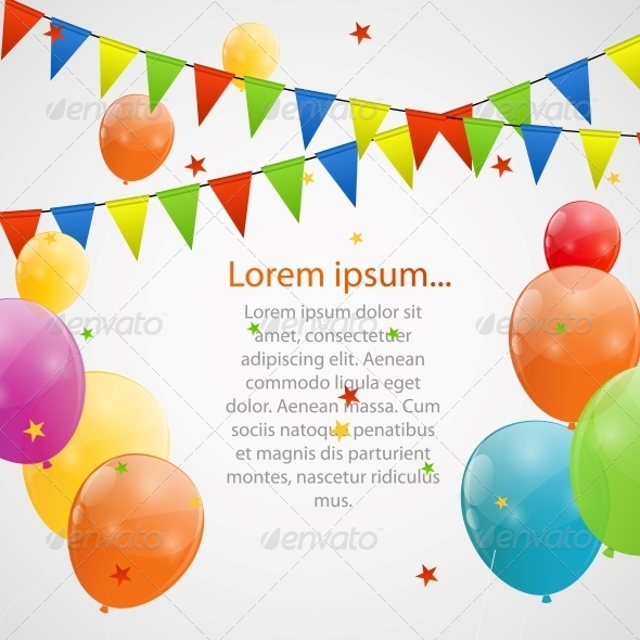 GraphicRiver Color Glossy Balloons Background 6215788