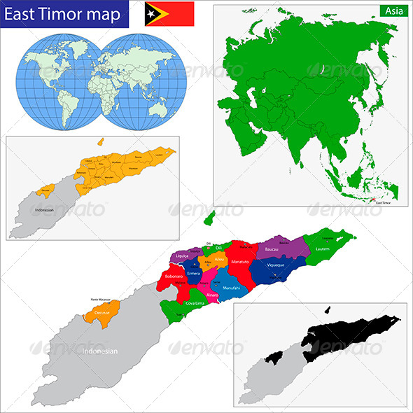 GraphicRiver East Timor Map 6216515