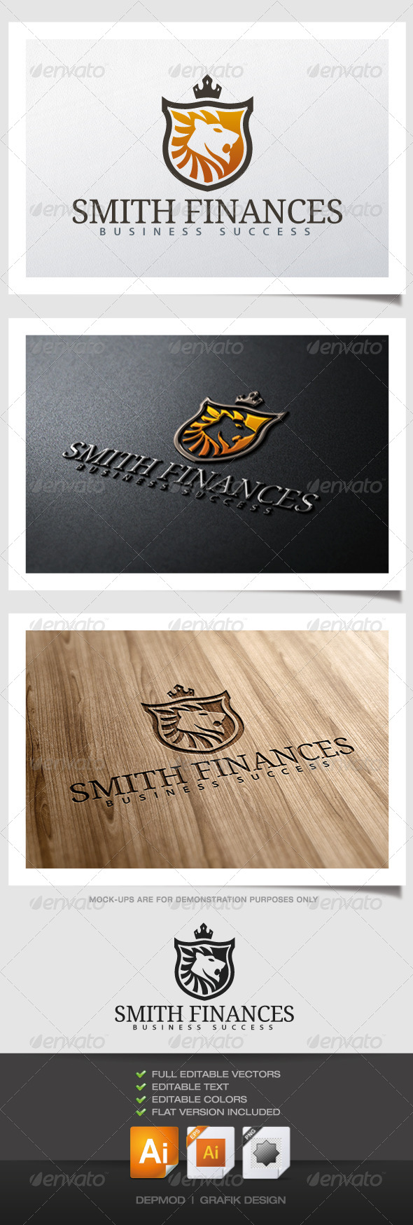 GraphicRiver Smith Finances Logo 6216610