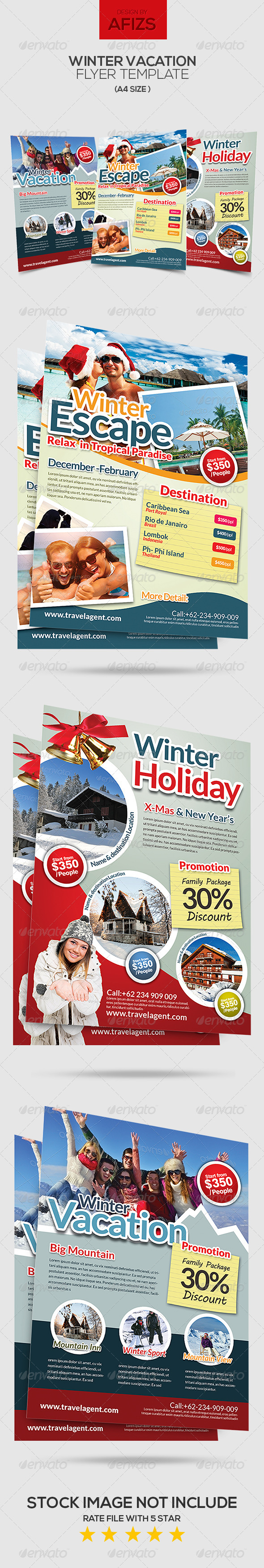 GraphicRiver Winter Vacation Flyer 6217022
