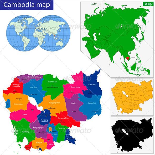 GraphicRiver Cambodia Map 6217045