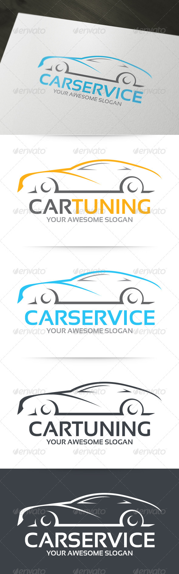 GraphicRiver Car Tuning Logo 6217421