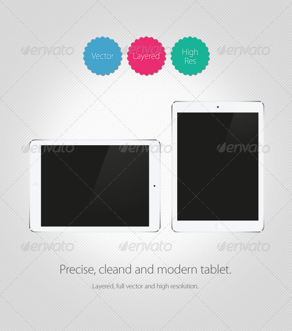 GraphicRiver Pad Air Vector Tablet 6211272