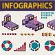 Infographics industrial set